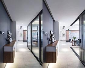 110㎡现代简约风,开放式的格局,小房子