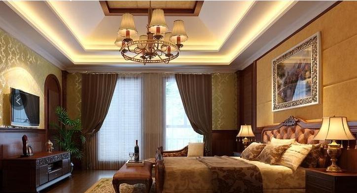 哪种吊顶更漂亮 美式卧室吊顶受亲睐